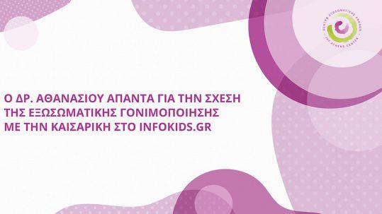 Ο Δρ. Αθανασίου απαντά για την σχέση της εξωσωματικής γονιμοποίησης με την καισαρική στο InfoKids.gr